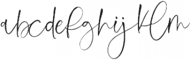 Love Notes Script ttf (400) Font LOWERCASE
