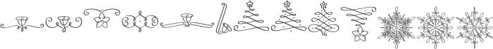 LoveChristmas Regular otf (400) Font LOWERCASE