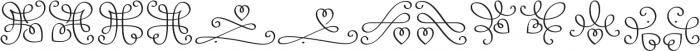 LoveHearts otf (400) Font UPPERCASE