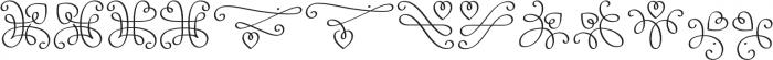 LoveHearts otf (400) Font LOWERCASE