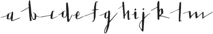 LoveLetter otf (400) Font LOWERCASE
