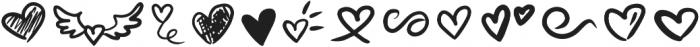 Lovea Script Doodle otf (400) Font UPPERCASE