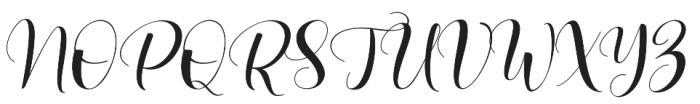 Lovea Script otf (400) Font UPPERCASE