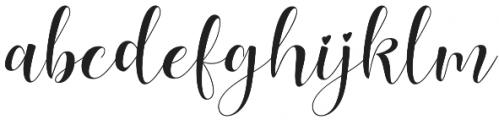 Lovea Script otf (400) Font LOWERCASE