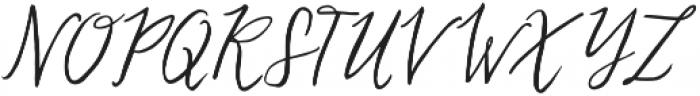 Lovefern Swashes otf (400) Font UPPERCASE