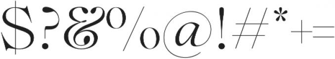 Lovelace Light otf (300) Font OTHER CHARS