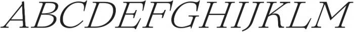 Lovelace Text Light Italic otf (300) Font UPPERCASE