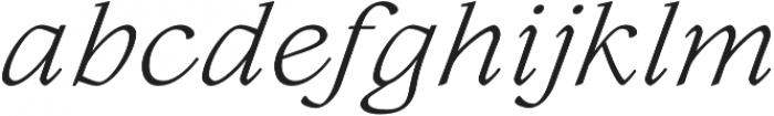 Lovelace Text Light Italic otf (300) Font LOWERCASE