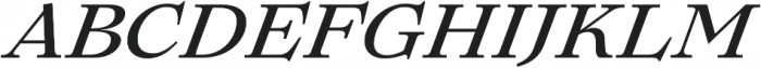 Lovelace Text Medium Italic otf (500) Font UPPERCASE