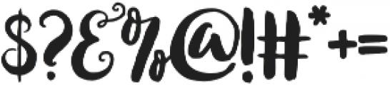 Loveletter Script otf (400) Font OTHER CHARS