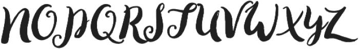 Loveletter Script otf (400) Font UPPERCASE