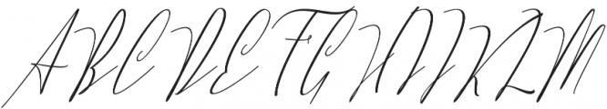 Lovellyana Script Slant otf (400) Font UPPERCASE