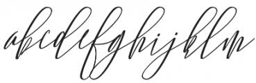 Lovellyana Script Slant otf (400) Font LOWERCASE