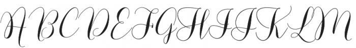 Lovely Dramatis Regular otf (400) Font UPPERCASE