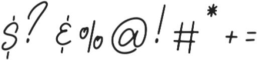 Lovely Jeanne Script Regular otf (400) Font OTHER CHARS