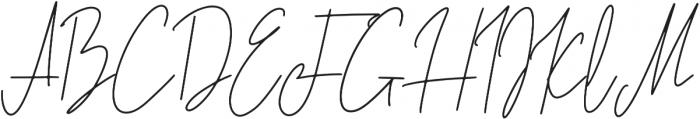 Lovely Jeanne Script Regular otf (400) Font UPPERCASE