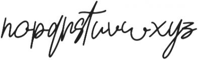 Lovely Jeanne Script Regular otf (400) Font LOWERCASE