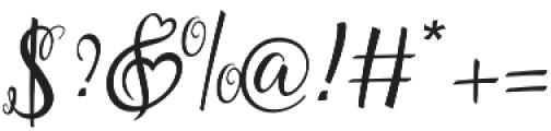Lovely Melissa Regular otf (400) Font OTHER CHARS
