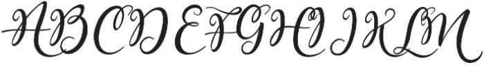 Lovely Melissa Regular otf (400) Font UPPERCASE