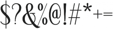 Loverica otf (700) Font OTHER CHARS