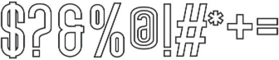 Lovers Brooks Sans Outline otf (400) Font OTHER CHARS