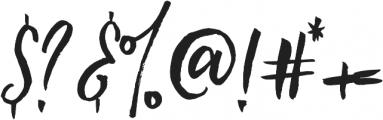 Loving Saskia otf (400) Font OTHER CHARS