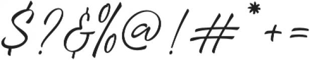 Loyalty Script Regular otf (400) Font OTHER CHARS
