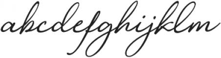 Loyalty Script Regular otf (400) Font LOWERCASE
