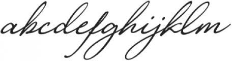 Loyalty Slant Regular otf (400) Font LOWERCASE