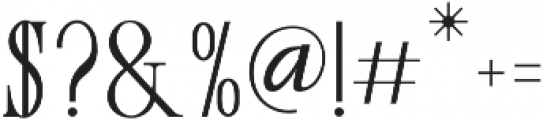 love and live otf (400) Font OTHER CHARS