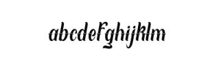 Local Genius Typeface Font LOWERCASE