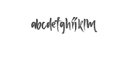 Love me Font LOWERCASE
