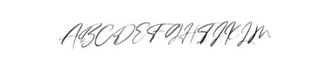 Lovers Brooks Rough.ttf Font UPPERCASE