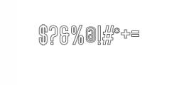 Lovers Brooks Sans Outline.ttf Font OTHER CHARS