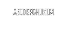 Lovers Brooks Sans Outline.ttf Font LOWERCASE