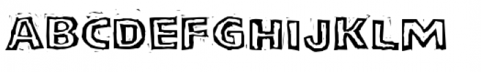 LogJam Inline Font UPPERCASE