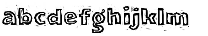 LogJam Inline Font LOWERCASE