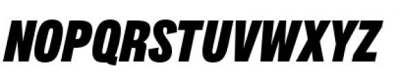 Lorimer No 2 Condensed Black Italic Font UPPERCASE