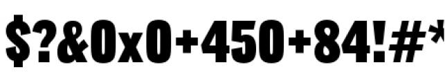 Lorimer No 2 Condensed Black Font OTHER CHARS
