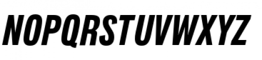 Lorimer No 2 Condensed Bold Italic Font UPPERCASE