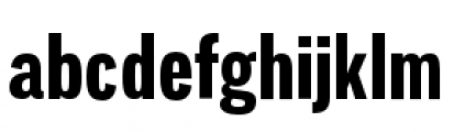 Lorimer No 2 Condensed Bold Font LOWERCASE