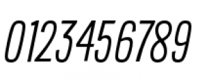 Lorimer No 2 Condensed Light Italic Font OTHER CHARS