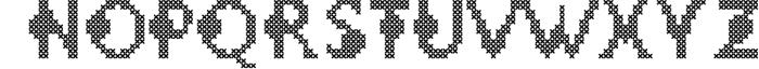LOVELY-DAY-COLOR-CROSSSTICH OTF-SVG  multicolor font 1 Font UPPERCASE