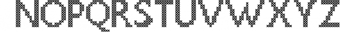 LOVELY-DAY-COLOR-CROSSSTICH OTF-SVG  multicolor font Font UPPERCASE