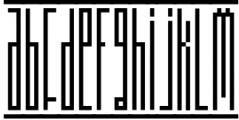 Longinus Typeface with two variations Font LOWERCASE