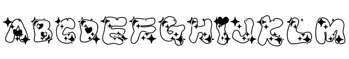LOVELOVE_AhanRamee Font UPPERCASE