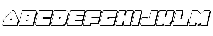 Lobo Tommy 3D Italic Font LOWERCASE