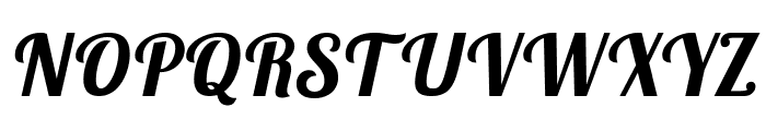 Lobster Two Bold Italic Font UPPERCASE
