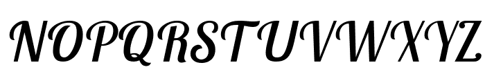 Lobster Two Italic Font UPPERCASE