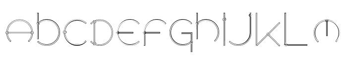 Locus   Knots Font LOWERCASE